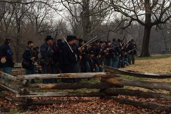 Union cavalry ready for battle