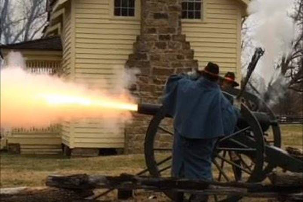 Cannon fires fire